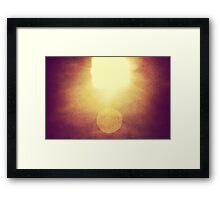 the grungy light Framed Print