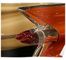 1959 Cadillac Convertible Tail Fin Poster