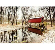 Sugar Creek Covered Bridge Photographic Print