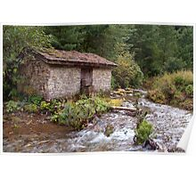 Stone Building by River near Chame Poster
