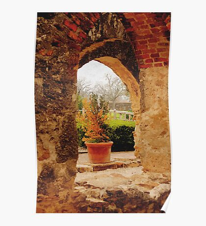 Archway in Digital Oil Poster