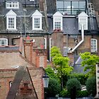 Busy Rooftops Of London by phil decocco