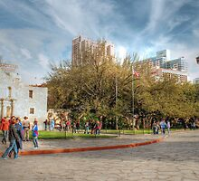 Alamo Plaza in HDR, Downtown San Antonio by SJBroadmeadow
