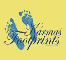 KARMAS FOOTPRINTS (BLUE) Kids Clothes