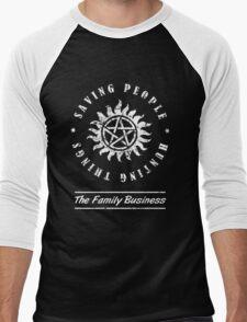 Supernatural Family Business Quote Men's Baseball ¾ T-Shirt