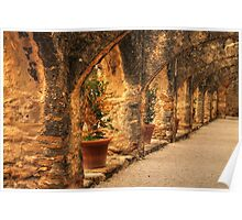 Arched Walkway Poster