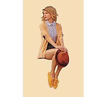 Taylor Swift in beige for Keds Photographic Print