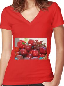 Fifty Shades of Red - Tote Women's Fitted V-Neck T-Shirt
