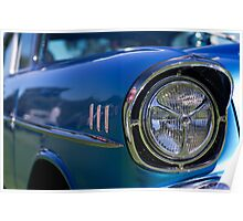 Light Up - One Blue 57 Chev Poster