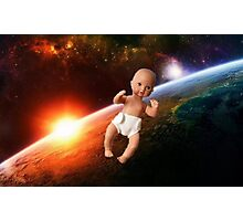 Space Baby Photographic Print