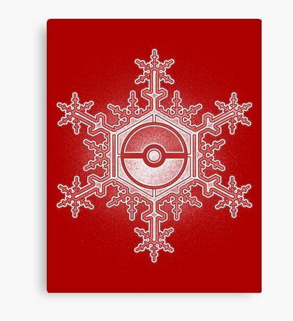 Pokeball Snowflake Canvas Print