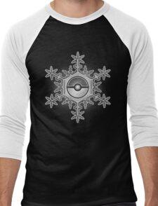 Pokeball Snowflake Men's Baseball ¾ T-Shirt