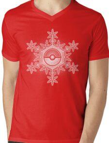 Pokeball Snowflake Mens V-Neck T-Shirt