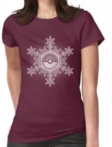 Pokeball Snowflake Womens Fitted T-Shirt
