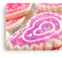 Heart Sugar Cookies Metal Print