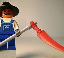 Halloween Scarecrow with Scythe, Custom LEGO® Minifigure, by 'Customize My Minifig' by Chillee