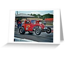 1937 Fiat Topolino Gasser - Hot off the Line!!  Greeting Card