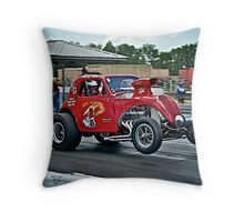 1937 Fiat Topolino Gasser - Hot off the Line!!  Throw Pillow