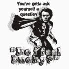 """Do i feel Lucky?"" - Dirty Harry - Best Quotations, Clin Eastwood [white] by Guilherme Bermêo"