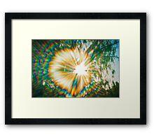 Pinhole Sunburst Framed Print