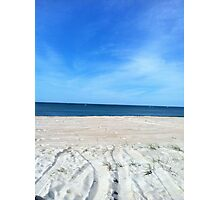 Blue skies above & sand below Photographic Print