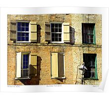"""Old Brick New Shutters"" New Orleans French Quarter Poster"