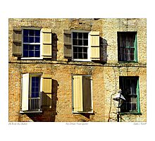 """Old Brick New Shutters"" New Orleans French Quarter Photographic Print"