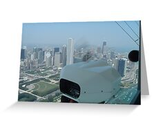 Chicago from Blimp Greeting Card