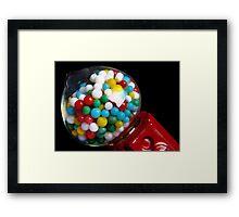 Miniature Bubble Gum Machine Framed Print