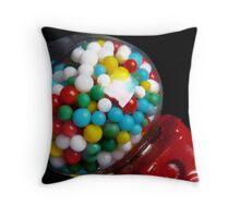 Miniature Bubble Gum Machine Throw Pillow