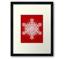 Mushroom Snowflake Framed Print