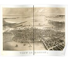 Panoramic Maps View of Boston July 4th 1870 Poster