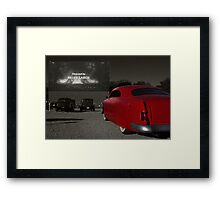 The Drive-In Framed Print