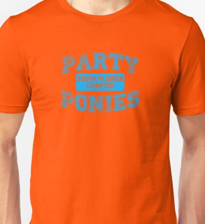 Party Ponies - Blue Unisex T-Shirt