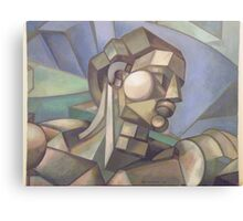 michaelangelo cubist head version of adam Canvas Print