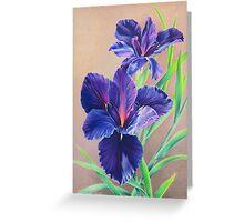 Dark Knight Purple Iris Greeting Card