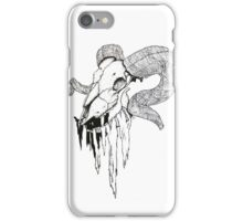 'Decay' Ram Skull Ink Drawing iPhone Case/Skin