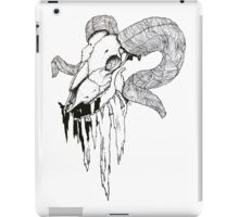 'Decay' Ram Skull Ink Drawing iPad Case/Skin