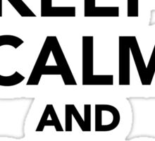 Keep calm and hurdle on Sticker