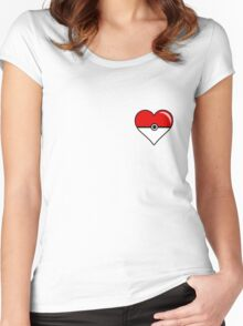 Pokéheart Women's Fitted Scoop T-Shirt
