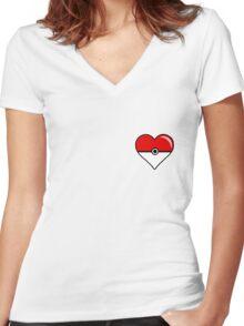 Pokéheart Women's Fitted V-Neck T-Shirt