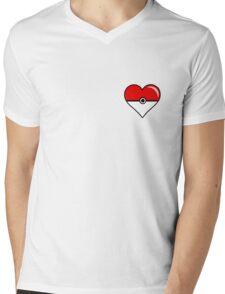 Pokéheart Mens V-Neck T-Shirt