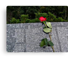 A Red Rose To Remember Canvas Print