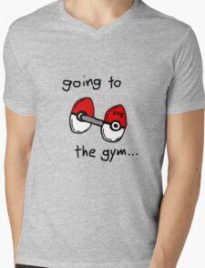Going to the gym Mens V-Neck T-Shirt