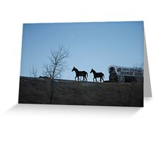 Dances with Wolves  Chuckwagon Greeting Card