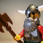 Viking Warrior with Custom Battle Axe, LEGO® Custom Minifigure, by 'Customize My Minifig' by Chillee