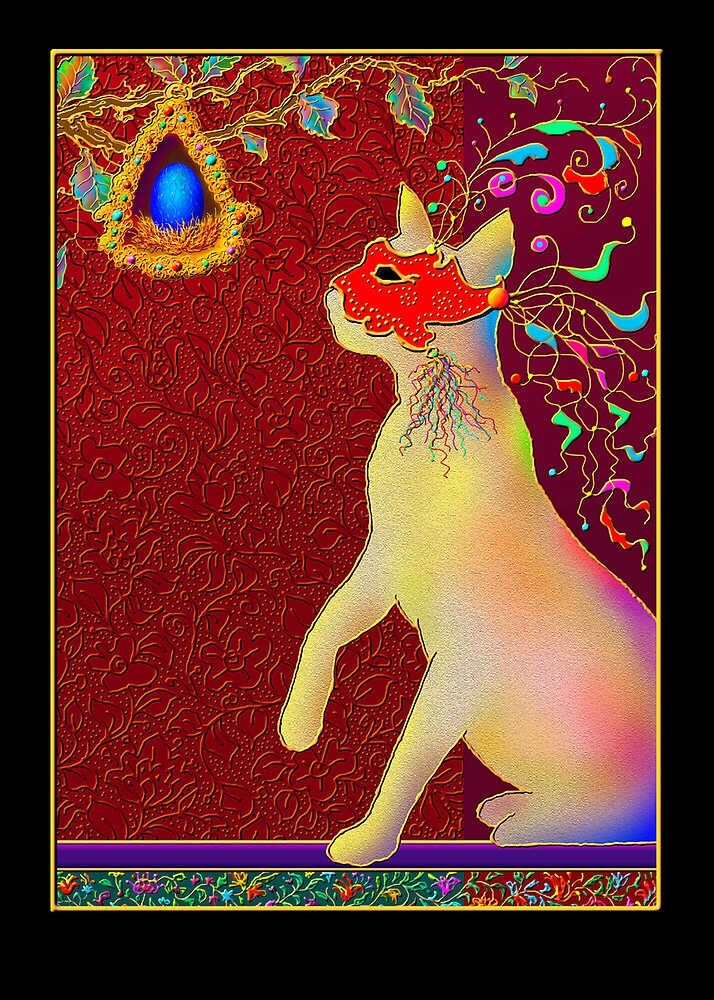 'ROMEO CAT'  Impetuous Fire, Ice and Desire. Greeting Card or Small Print by luvapples downunder/ Norval Arbogast