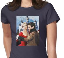 Captain Swan Fairy Tale Watercolor Design 1 Womens Fitted T-Shirt