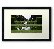 Gardens - Statue - Lenarch Castle Dunedin 1 Framed Print