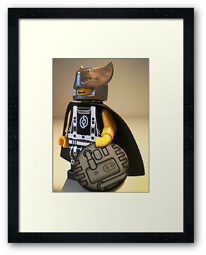 Captain Vortex in Black & Silver Costume and Cape, LEGO® Custom Minifigure, by 'Customize My Minifig' by Chillee